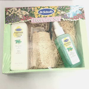 Dr Scholls foot care set lotion spray loofah gift